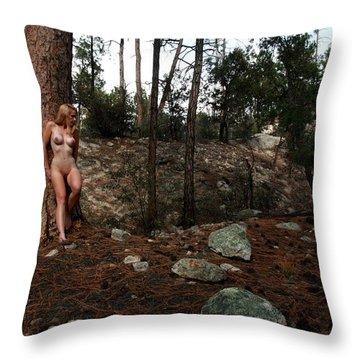 Wood Nymph Throw Pillow by Joe Kozlowski