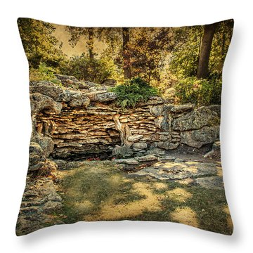 Woodard Park Koi Pond Throw Pillow by Tamyra Ayles