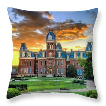 Woodburn Hall Evening Sunset Throw Pillow by Dan Friend