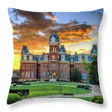 Woodburn Hall Evening Sunset Throw Pillow
