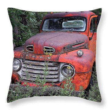 Throw Pillow featuring the photograph Wooded Ford by Christopher McKenzie