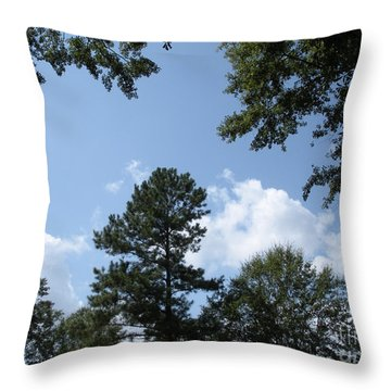 Wooded Forest  Throw Pillow