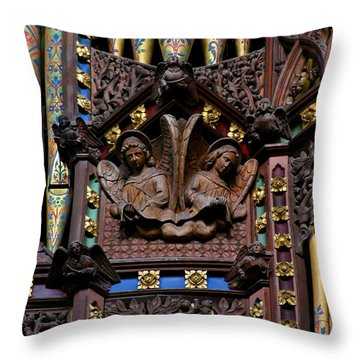 Wooden Angels Ely Cathedral Throw Pillow