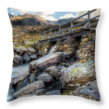 Wooden Bridge Throw Pillow by Adrian Evans
