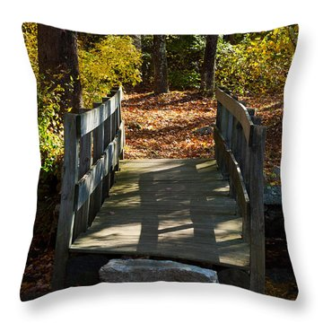 Wooden Bridge - Ledyard Sawmill Throw Pillow