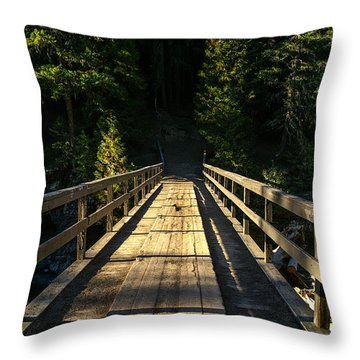 Throw Pillow featuring the photograph Wooden Bridge by Sue Smith