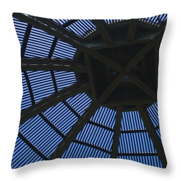 Wooden Dome Throw Pillow