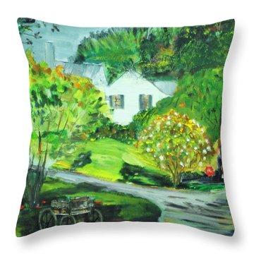 Wooden Duck Inn Throw Pillow