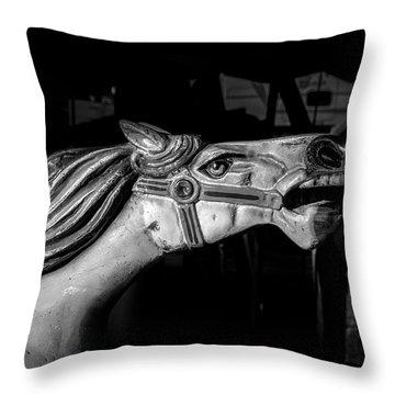 Wooden Pony Throw Pillow