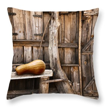 Wooden Shack Throw Pillow by Carlos Caetano