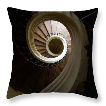Wooden Spiral Throw Pillow