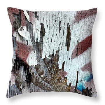 Wooden Wall 5 Throw Pillow