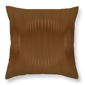 Throw Pillow featuring the digital art Woodfeather by Kevin McLaughlin
