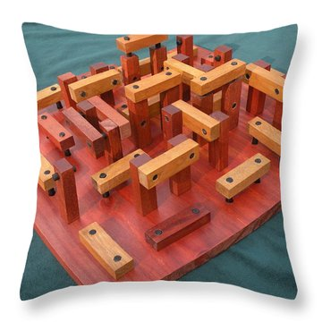 Woodhenge Throw Pillow by Dave Martsolf