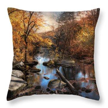Woodland Autumn Throw Pillow