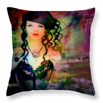 Throw Pillow featuring the digital art Woodland Beauty by Diana Riukas