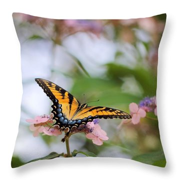 Woodland Butterfly Throw Pillow