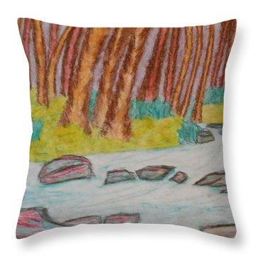 Throw Pillow featuring the painting Woodland Creatures by Thomasina Durkay