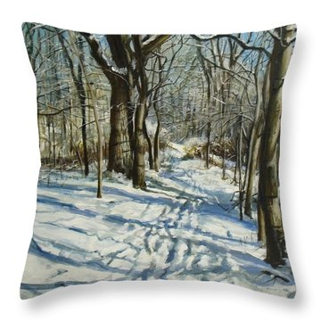 Woodland Journey Throw Pillow