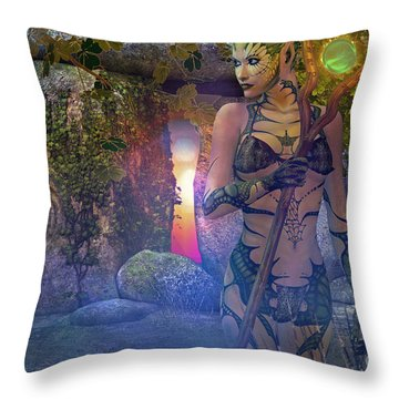 Woodland Nymph Throw Pillow by Shadowlea Is