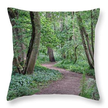 Woodland Path  Throw Pillow