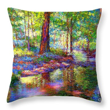 Woodland Rapture Throw Pillow