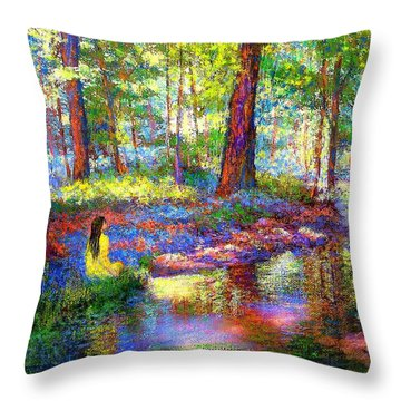 Woodland Rapture Throw Pillow by Jane Small