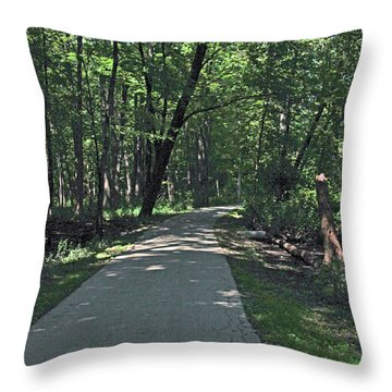 Woodland Road Throw Pillow