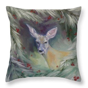 Woodland Spirit Throw Pillow