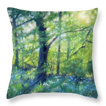 Woodland Sunset Throw Pillow by Bonnie Mason