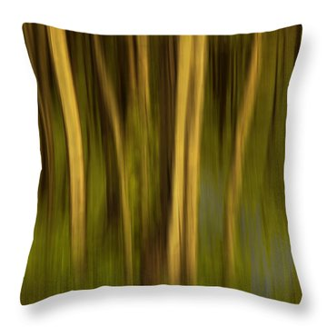 Woodland Tapestry Throw Pillow by Sandi Mikuse