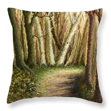Woodland Walk Throw Pillow