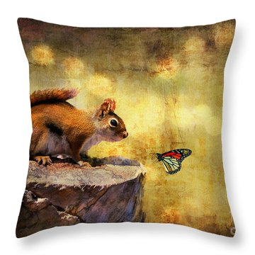 Throw Pillow featuring the photograph Woodland Wonder by Lois Bryan