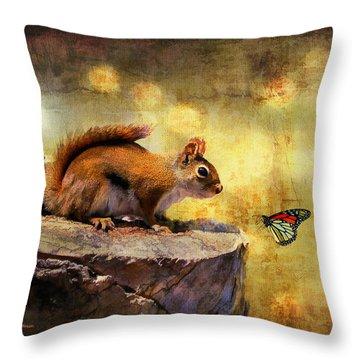 Squirrels Throw Pillows