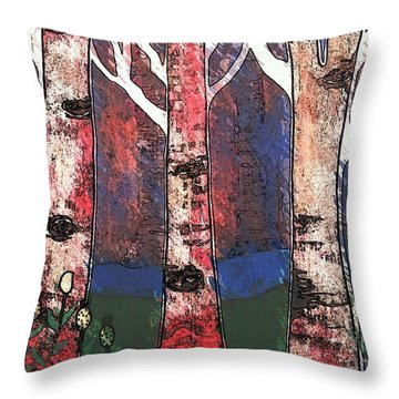 Woodlin Throw Pillow by Amy Sorrell