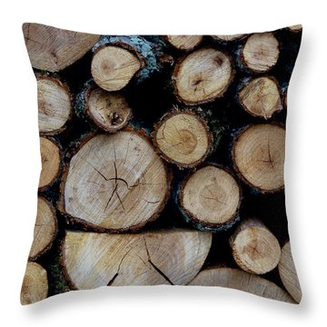 Throw Pillow featuring the photograph Woods For The Fireplace 004 by Dorin Adrian Berbier