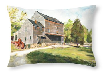Woodsons Mill Throw Pillow by J Luis Lozano