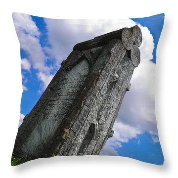 Woodstone Throw Pillow by Nick Kirby
