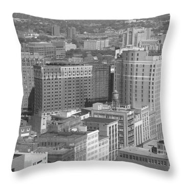 Woodward Avenue Bw Throw Pillow