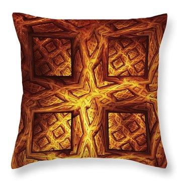 Woodwork Throw Pillow by Anastasiya Malakhova