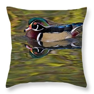 Woody Throw Pillow by Susan Candelario