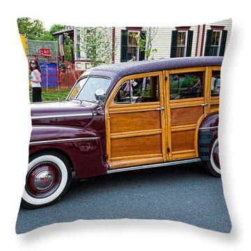 Woody Wagon Throw Pillow