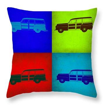 Woody Wagon Pop Art 1 Throw Pillow by Naxart Studio
