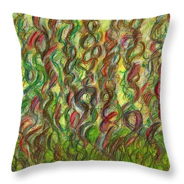 Wooing Nature Throw Pillow