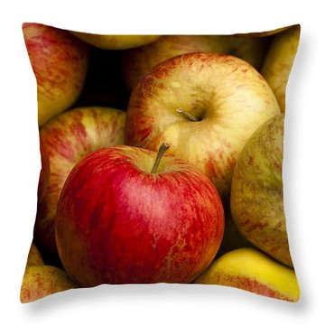 Worcester Pearmain Throw Pillow by Anne Gilbert