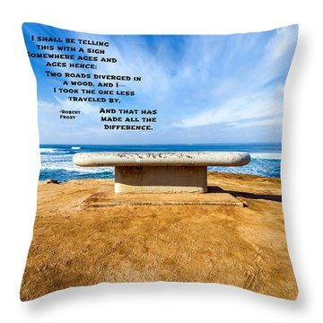 Words Above The Bench Throw Pillow