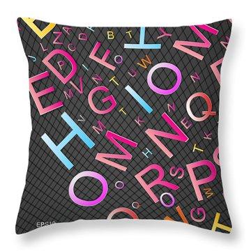 Alphabet Throw Pillows