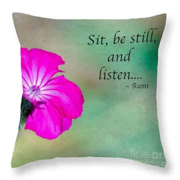 Words From Rumi Throw Pillow