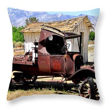 Throw Pillow featuring the photograph Work Needed by Marilyn Diaz