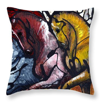 Work Together Throw Pillow